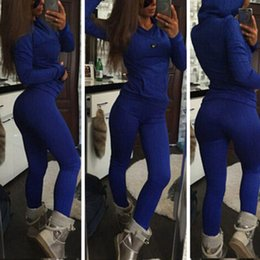 Wholesale 2016 New Fashion Sexy Twist Knitted Sweat Suit Warm Tracksuit Jersey Jumper Casual Sports Wear Hooded Set