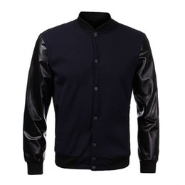 Discount Mens Baseball Jacket Leather Sleeves | 2017 Mens Baseball ...