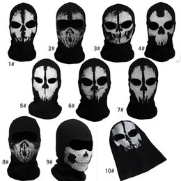 Wholesale Hot Sale New call of duty X10 Ghosts Mask New fashion cosplay Outdoor Hat Cycling Bike Motorcycle Windproof Mask CS Game Face Halloween Mask
