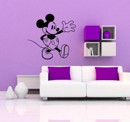Mickey Mouse And Minnie Mouse Donald Duck Removable Decal Home Decor Vinyl Decal Cartoon Outline Sketch Baby Room Wall Sticker Size M