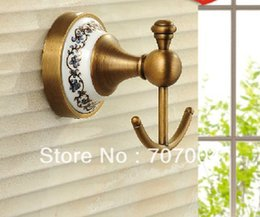 2017 antique brass coat hooks antique brass bathroom wall mounted rowel coat clothes hook free shipping brass coat hook pieces