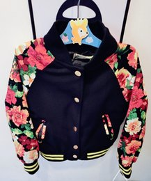 Wholesale Baseball Uniform For Children Kids Casual Flower Jacket Kids Outwear New Fashion Spring Children Clothes