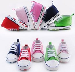 Wholesale 2014 Fashion canvas shoes CM neonatal soft bottom casual shoes Cheap toddler shoes baby wear pair