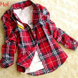 Ladies Red Black Plaid Shirt Online | Ladies Red Black Plaid Shirt ...