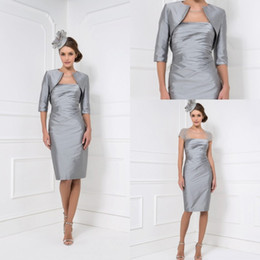 Discount Gray Mother Bride Short Dress Jacket | 2017 Gray Mother ...