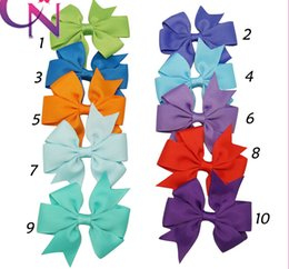 Wholesale High quality grosgrain ribbon bows for hair hair bows children hair accessories baby hairbows girl hair bows WITH CLIP