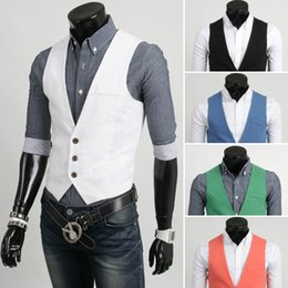 Wholesale Mens Vests Deep V neck Sleeveless Coats Vests D093