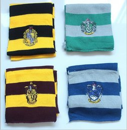100 BBA4384 moda de 4 colores bufanda de Harry Potter bufanda Chaddar de Ravenclaw Gryffindor Fringed Muffler Bufanda mágica del pañuelo Envuelve Pashmina