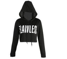 Wholesale Womens Crop Hoodie Long Sleeve Jumper Hooded Pullover Coat Casual Sweatshirt Top