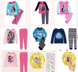 Wholesale Winter autumn spring children pajamas frozen elsa anna olaf car snow white printedkids cartoon homewear girl boy cotton Loungewear nightwear