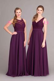 Discount Eggplant Lace Bridesmaid Dresses | 2017 Eggplant Lace ...