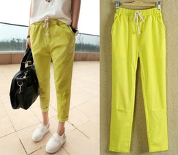 Yellow Linen Pants Women Online | Yellow Linen Pants Women for Sale