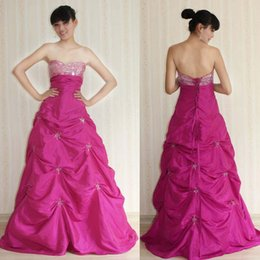 Wholesale Empire Strapless Ankle Length Satin Ruffles With Crystal Quinceanera Dresses New Arrival