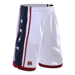 Wholesale 2015 New USA Basketball Shorts Men Running Shorts Summer Beach Sport Shorts For Men Color Plus Size wja031