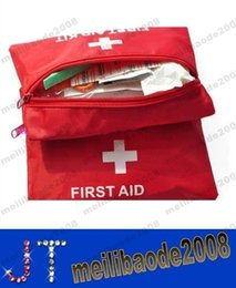 Wholesale NEW First Aid Kit For Outdoor Travel Sports Emergency Survival Indoor Or Car Treatment Pack Bag MYY13014A