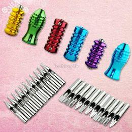 Wholesale Tattoo Supplies kit Grips Stainless Steel Tips Nozzles Needle Set EN1026