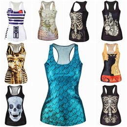 Wholesale New Arrival Mixed Style Women Clothing Fashion Design Lady Tank Tops Printed Camisole ERY