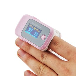 Wholesale pink NEW Fingertip OLED Display Pulse Oximeter with Audio Alarm Pulse Sound ROSE Spo2 Monitor