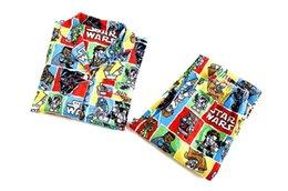 10pcs sml pueden elegir el tamaño de los pijamas de los niños, guerras de las galaxias 7 la fuerza despierta guerra de las galaxias pijamas sleepwear.kids pijama de algodón ropa Kartoon