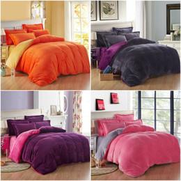 4pcs Super Soft Thick Velvet Denim Bedding Set Cashmere Bedding-set Super  King Bed Duvet Cover Sheets Pillow Quilt No