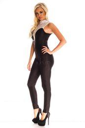 Wholesale Hollow Out Jumpsuit Women Fashion Black Bodysuit Party Long Pants suit Overalls For Women Rompers Womens Jumpsuit Female