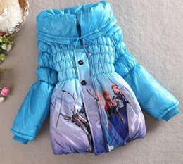 Wholesale Factory outlets Specials Christmas Gift Winter Frozen Children s Down Coat Thickening Girl Long Cotton Padded Clothes Kids Down Jackets Outw