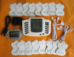 Wholesale 30 off sets Hot new Electrical Stimulator Full Body Relax Muscle Therapy Massager Pulse tens Acupuncture pads