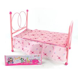 discount dollhouse pink new brand baby toys kids child play toy dollhouse furniture doll house bedroom affordable dollhouse furniture