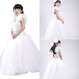 Wholesale 2015 New Real Pictures Ball Gown Flower Girls Dresses Lovely Princess Little Girls Formal Gowns Baby Girls Party Dress For Wedding MYD1023