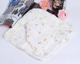 Wholesale 28 CM INCH Cotton Infant Saliva Towel Baby Waterproof Bibs Toddler Kids Pinafore Burp Cloths BBA
