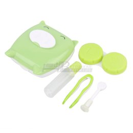 Wholesale Cute Pig Design Contact Lens Case Mirror Case Storage Container Box Drop Shipping