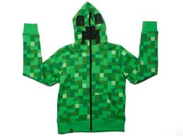 Wholesale 10pcs Hot Sale autumn winter camouflage minecraft coats minecraft hoodies minecraft clothes minecraft supplies Adult coat