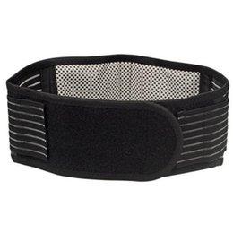 Wholesale US STOCK Self heating back supporter Waist Lower Back Support Belt Breathable Brace Black