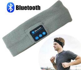 Bluetooth Headband lavable Sweatband con altavoz micrófono manos libres auriculares inalámbricos auriculares auriculares para correr jogging esquí patinaje
