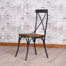 American country to do the old wood wrought iron bar stools retro bar chairs bar chairs leisure chairs office chairs