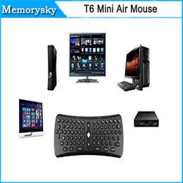 Teclado inalámbrico T6 Mini Air Mouse 2.4Ghz giroscopio remoto Combo Control para M8 MXQ CS918 MXIII Android TV Box Media Player PC 002961