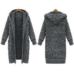 Discount Womens Hooded Sweater Coat | 2017 Womens Long Hooded ...