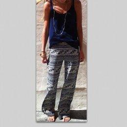Wholesale palazzo pants women trousers womencalca feminina cintura alta women wide leg pants floral print casual lady trouser B57527