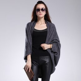 Wholesale Mink Cashmere Shawl Cardigan For Women Girls Winter Cashmere Knitting Outwear Fashion Mink Cashmere Sweater Shawl Cardigan Coat L063