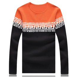 Wholesale 2015 New Arrival Autumn Wnter O Neck Geometic Patten Men s Warm Pullover Fashion Thin Male Sweaters For Men Slim Fitting Pullover Men