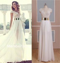 Wholesale Julie Vino Fashion Wedding Dresses Featuring Beaded Bodice With Plunging Neck Beaded Bodice Thigh High Slit Real Pictures Prom