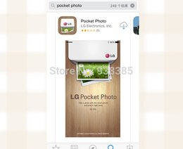 LG Pocket Photo PD239 PD239P Mobile Mini Picture Printers for Android and Iphone bluetooth mobile thermal printer wifi ios