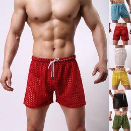 Wholesale Mesh Men Shorts Gay Mens Shorts Casual Sleepwear see through Men Shorts Mesh Sheer Sport Penis Man Shorts Mens Sleep Bottoms
