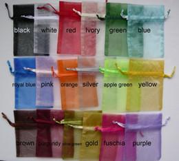 Wholesale Factory outlet cm kinds of color wedding organza bag