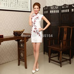 Wholesale 2015 spring and summer embroidered cheongsam chinese style formal dress fashion classical design vintage short cheongsam dress
