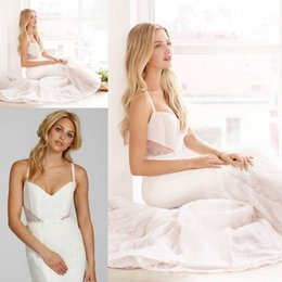 Wholesale Bridal Gown Sweetheart Neckline With Thin Straps Criss cross Back Pleated Bodice Lace Throughout Skirt Sheath Wedding Dresses ZC