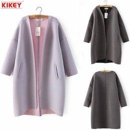 Wholesale Abrigo Mujer Invierno Minimalist Style Air Layer Cardigan Coat Abrigo De Invierno Las Mujeres Manteau Femme NZ1545