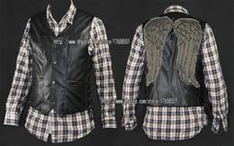 Wholesale The walking dead daryl dixon angel wings vest jacket Motorcycle vest