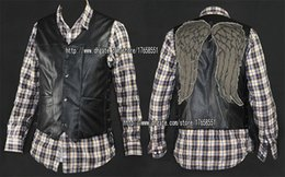 Wholesale The walking dead daryl dixon angel wings vest jacket Motorcycle vest