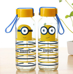 Wholesale 60pcs Car Water Cup Cartoon Minions Despicable Me glass Texture Suction Cup Vacuum Cup ML